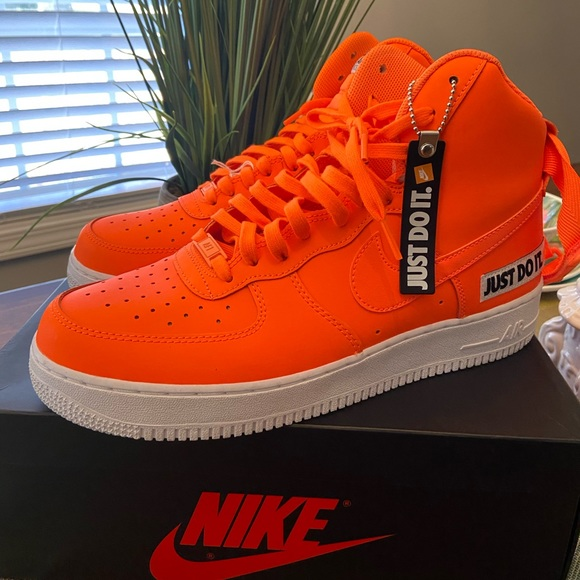 air force 1 just do it pack orange